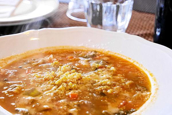イタリアンレストラン「バルコ デル チェロ」_ミネストローネスープ