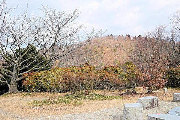 20190122二上山_雌岳から雄岳を見る
