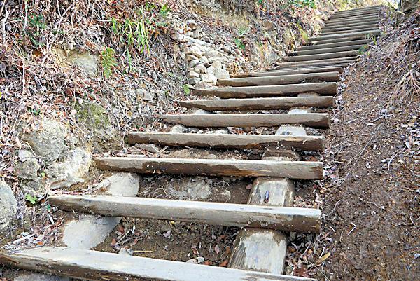 20190203二上山 (2)雄岳の登山道