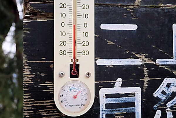 20190209二上山 (3)雄岳頂上_温度計