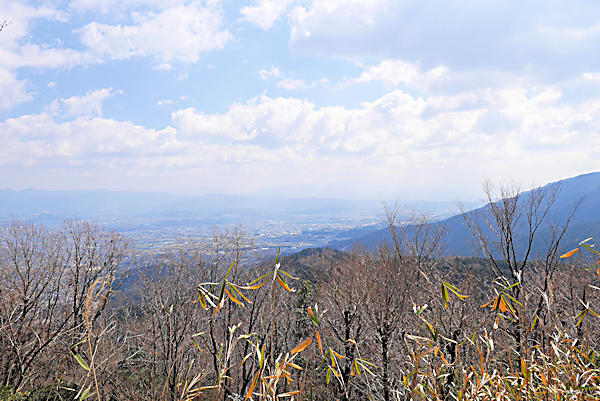 20190223二上山 (4)雌岳山頂から奈良方面の眺め