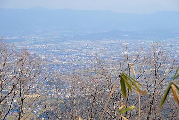 20190226二上山 (8)雌岳山頂から奈良方面の眺め