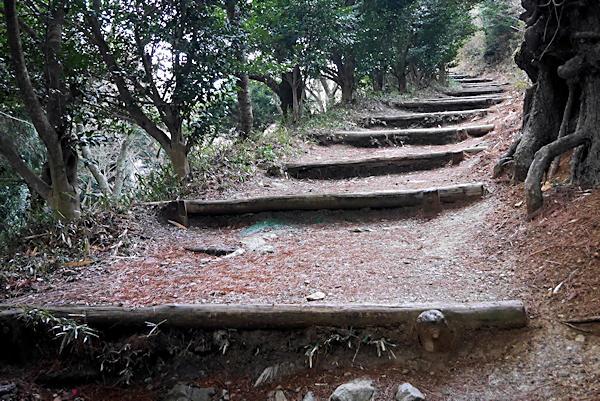 20190316二上山 (1)雌岳への登り