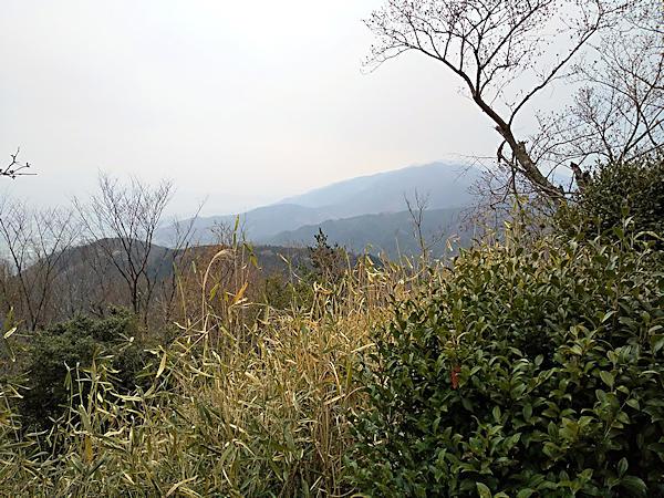 20190330二上山 (5)雌岳山頂から大和葛城山