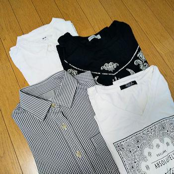 No.0179-182 シャツ2着、Tシャツ2着