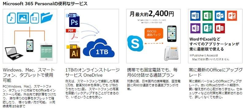 Microsoft 365 Personalの便利なサービス